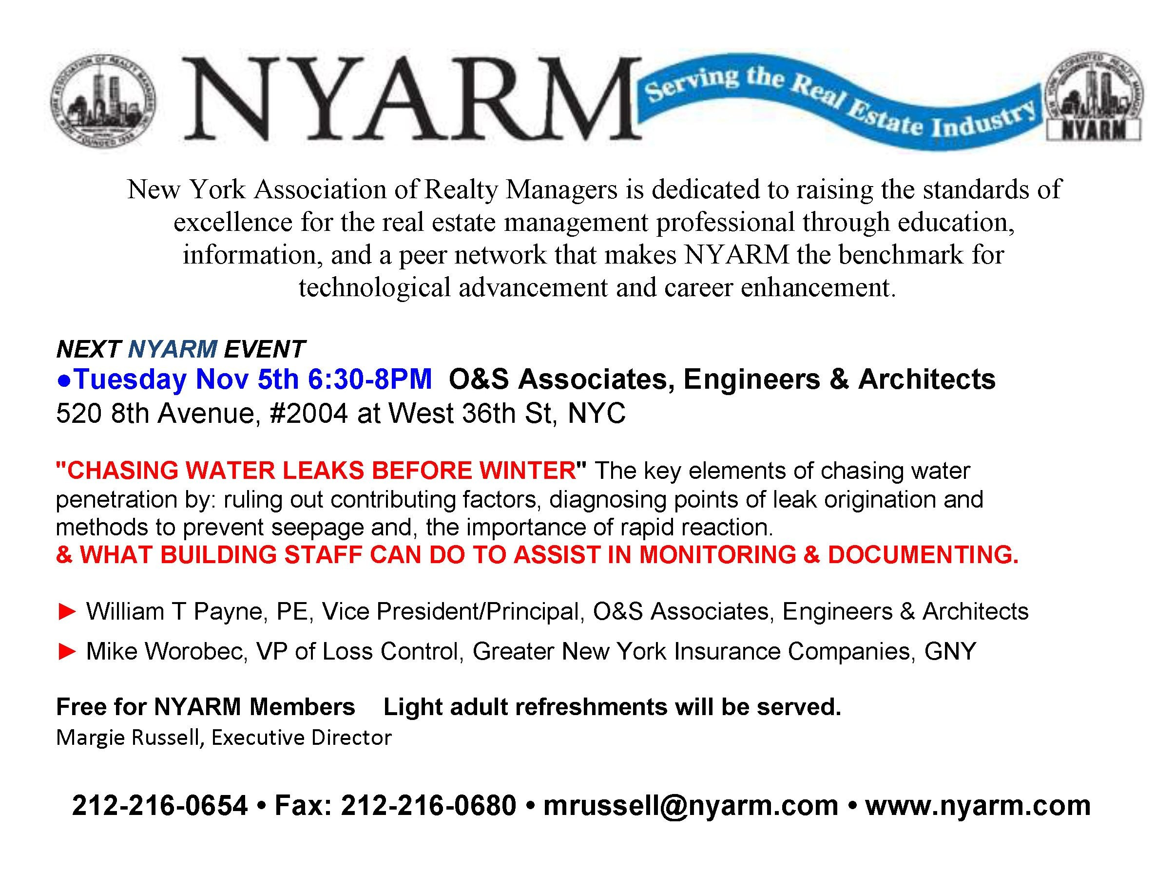 Nyarm New York Association Of Realty Managers Linkedin
