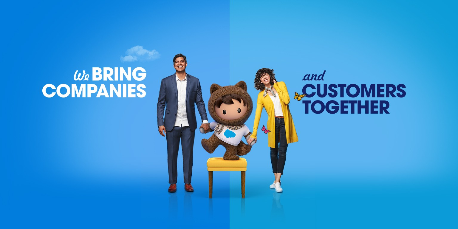 Salesforce's ad on how they bring companies and customers together.