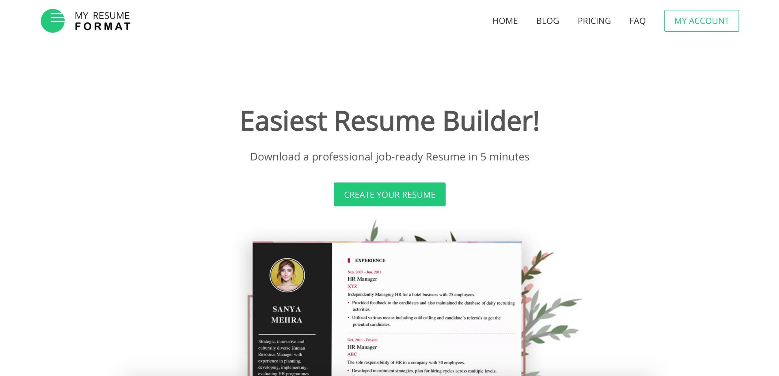 My Resume Format Linkedin