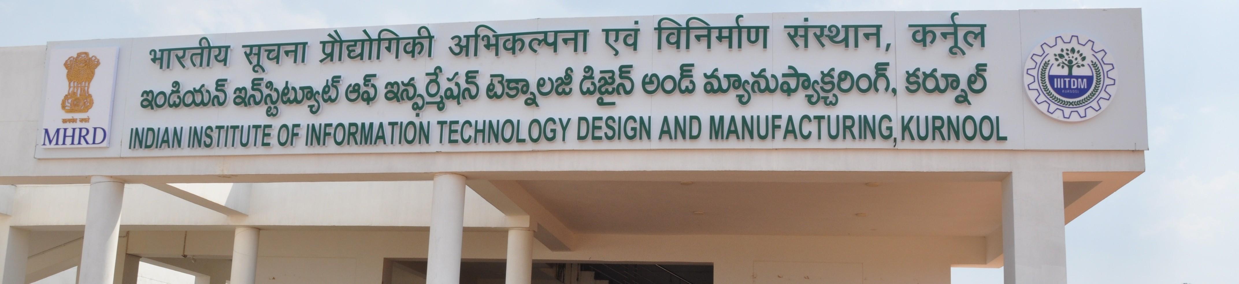 Indian Institute Of Information Technology Design Manufacturing Kurnool Linkedin